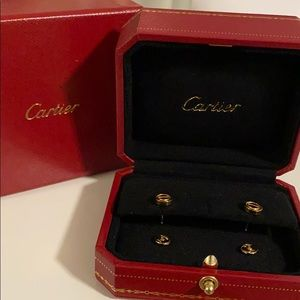 100%authentic Cartier love earrings yellow gold